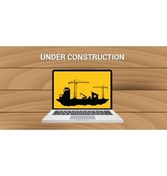 Website construction construct under development vector