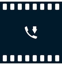 Incoming call flat style icon vector