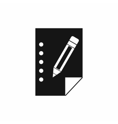 Notebook icon simple style vector