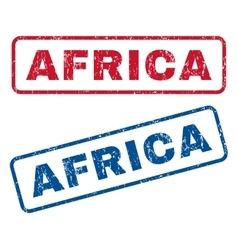 Africa Rubber Stamps vector image