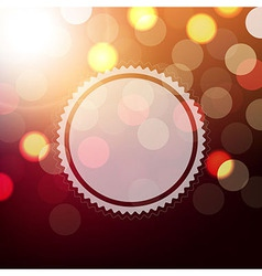 Background With Bokeh And Sphere vector image vector image