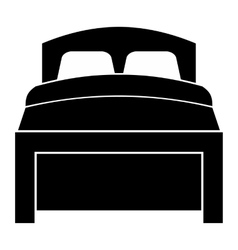 Bed simple icon vector image vector image