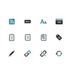 Blogger duotone icons on white background vector