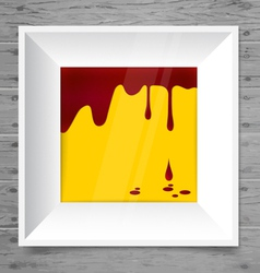 Blood dripping on modern frame blood background vector image vector image