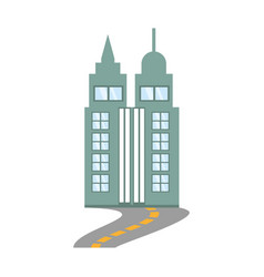 Building skyscraper road design vector