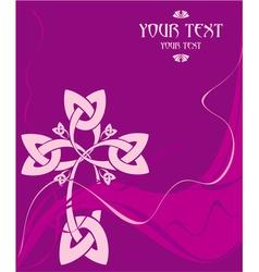 Card with a celtic cross vector