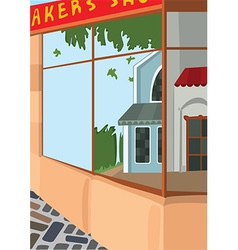 Cartoon street front side of the store vector