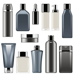 cosmetic packaging icons set 9 vector image vector image
