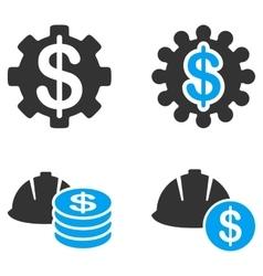 Development price flat bicolor icons vector