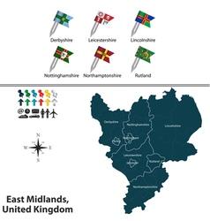 East midlands vector