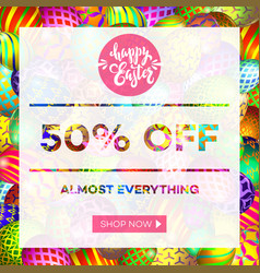 easter egg sale banner background template 13 vector image vector image