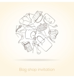 Fashion invitation card vector image vector image