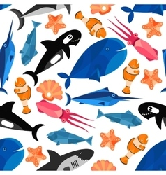 Fish cartoon seamless pattern wallpaper vector