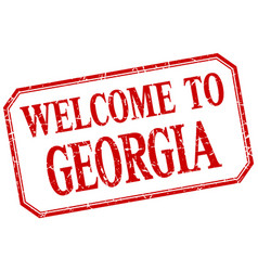 Georgia - welcome red vintage isolated label vector