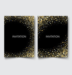 Gold glitters on a black backgroundcolored vector