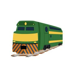 Green cargo or passenger railway train locomotive vector