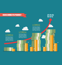 Gross domestic product infographic vector