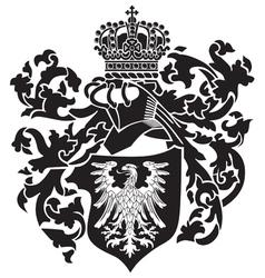 Heraldic silhouette no22 vector