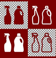 Household chemical bottles sign bordo and vector