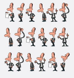 male office worker character 18 variations vector image vector image
