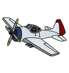 Old battle aircraft vector