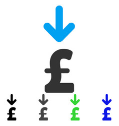 Pound income flat icon vector