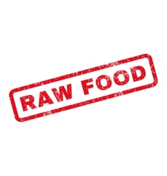 Raw Food Rubber Stamp vector image vector image