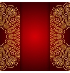 Royal gold ornamental greeting card vector image vector image