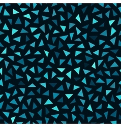 Seamless Blue Shades Jumble Triangles vector image