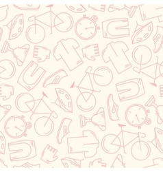 Seamless pattern with cycling attributes vector image