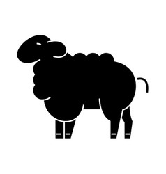 Sheep icon sign on isolate vector