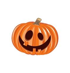 Smile Pumpkin Halloween Design Element Isolated vector image vector image