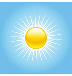 Summer sun rays vector