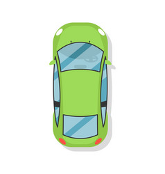 Top view sedan car isolated icon vector