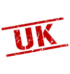 uk red square stamp vector image vector image