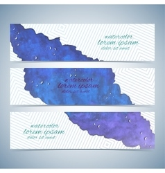 Watercolor colorful set of banners for vector image vector image
