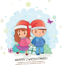 Christmas couple vector