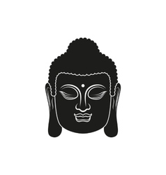 Head of buddha isolated vector