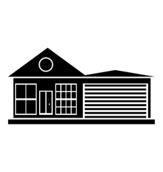 House with garage icon simple style vector
