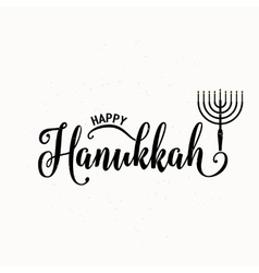 Happy hanukkah lettering vector