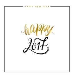 Happy new year gold text isolated vector