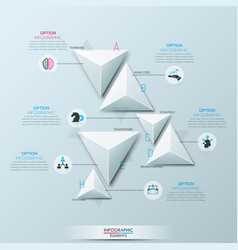 Infographic design layout with 6 separate white vector