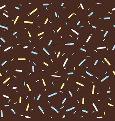 colorful sprinkles donut chocolate glaze seamless vector image