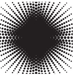 Halftone radial pattern background dots texture vector