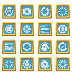 loading bars and preloaders icons azure vector image