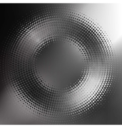 Abstract black-and-white halftone circle vector