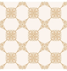 Seamless gold baroque background in vintage style vector