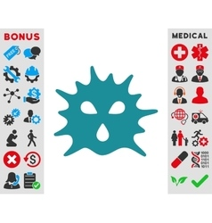 Virus structure icon vector