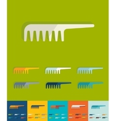 Flat design comb vector