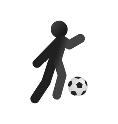 Football soccer isometric 3d icon vector